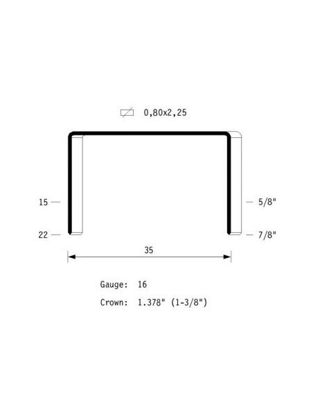OMER Graffatrice pneumatica 35.18 per imballaggio, Ferramenta
