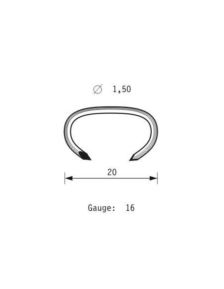 OMER Graffatrice per Hog-Rings pneumatica HR20 M5, Ferramenta