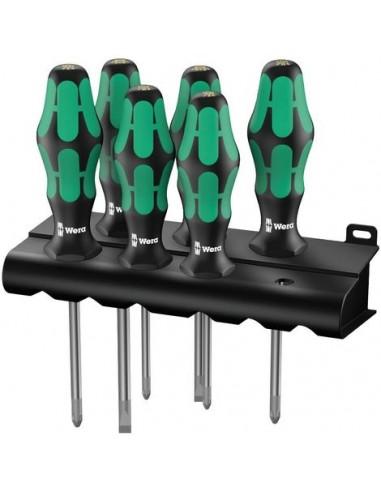 WERA Set 6 cacciaviti Kraftform Lasertip, Ferramenta Montagner