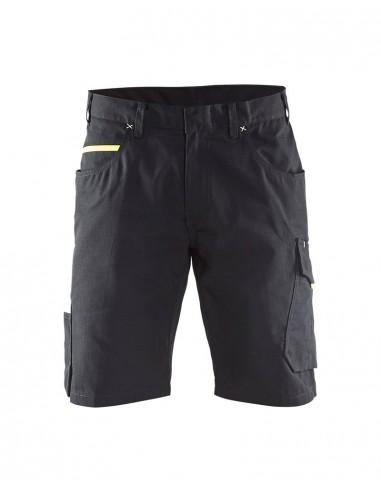 BLAKLADER Pantaloni Service corti service inserti gialli