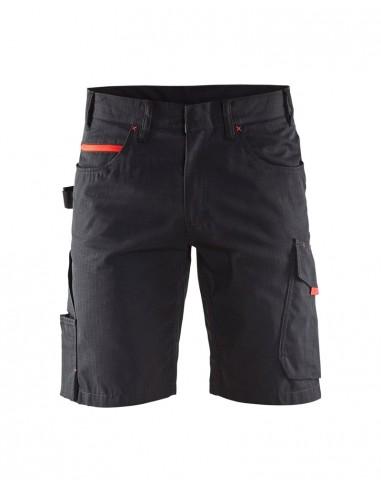 BLAKLADER Pantaloni corti service inserti rossi 1499 1330 9956